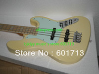 Wholesale Electric Jazz strings Bass Guitar cream Bass Guitar Custom Shop