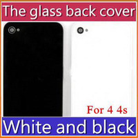 Wholesale DHL Glass Back Cover Housing With Chrome Ring and Flash Diffuser A1332 White and Black For iPhone G GSM S JP01