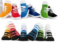 Wholesale Unisex Baby Kids Toddler Baby First Walking socks Boat socks Girl Boy Anti Slip Socks Shoes Slipper YFF