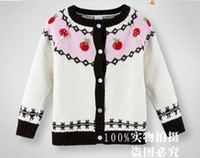 Wholesale New Arrival Children Spring Sweaters Pure Wool High Quality Girls Sweaters Cardigan Flower Kids Casdigan Jacket Baby Knitted Wear QZ426