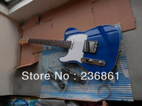 Wholesale HOT Tele guitar High Quality Left Hand blue tele guitar telecaster electric guitar Double bread edge in stock