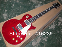 Wholesale Custom Shop Guitar Top Quality G Harrison Clapton LP Standard Lucy Red Electric Guitar Freeshipping