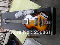 Wholesale Guitar factory Custom Hofner Icon Series Vintage Violin Bass Guitar German Hofner bass guitar with case