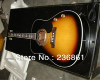 Wholesale High Quality new G John Lennon J E sunburst acoustic electric guitar in stock