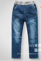 Wholesale 2014 New Arrival Kids Spring Jeans Soft Best Denim Quality Embroidery Dog Child Boy Casual Jeans Children Trousers Underwear QZ428