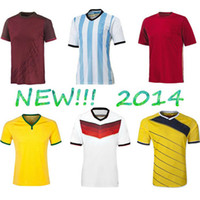 Wholesale Thailand quality New Spain Brazil Argentina Germany Portugal World Cup Home Soccer Jerseys Jersey Shirts Football Jersey