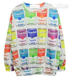 Wholesale New Fashionin Women s Sweatshirts Colorful Bottles Long Sleeve Loose Hip Hop O Neck Sweatshirts HXH8