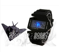 Sport aircraft steels - 10pcs LED Aircraft Sports Watch Unisex Silicone Strap LED Watches Digital hours Casual watches colors Military watch