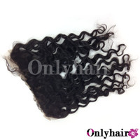 Wholesale Hot Selling Natural Color Kinky Curly Virgin Cambodian Remy Loose Wavy Hair Lace Frontal