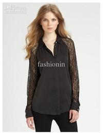 Wholesale New Arrival Long Sleeve Lace Turn Down CollorXS S M L XL XXL Chiffon Women s Shirts HXH2