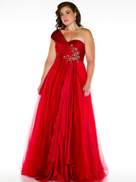 Wholesale Cassandra Stone plus size princess one shoulder sweetheart beaded floor length formal ball gowns pageant prom evening homecoming dresses