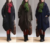 Coats Women Full_Length 3colors oversized cardigan Loose irregular woolen cloth long sleeve top coat plus size long thickening wool coat , W-457
