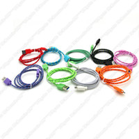 1M /3FT For Samsung  Fabric Braided Charger Cable for Samsung Galaxy Note 3 N9000 N9006 N9008 Micro USB 3.0 Nylon Data Sync Charging Cords
