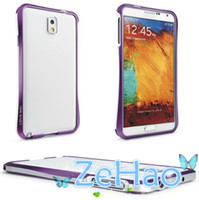 For Samsung Metal Wholesale Dual Colors Metal Bumper Frame Case For Samsung Galaxy Note 3 Note3 N9000 Cell Phone Cover