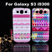 Wholesale Hot Selling Flower Aztec Tribal Tribe Retro Vintage Stripe Hard Back Plastic Case Cover For Samsung Galaxy S3 i9300