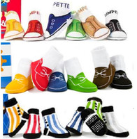 Wholesale 2014 Unisex Baby Kids Toddler Girl Boy Anti Slip Socks First Walking socks Baby Boat socks Shoes Slipper YFF