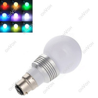 Wholesale S5Q B22 W Changing RGB LED Light Bayonet Bulb Remote Control Color Globe AAACVD
