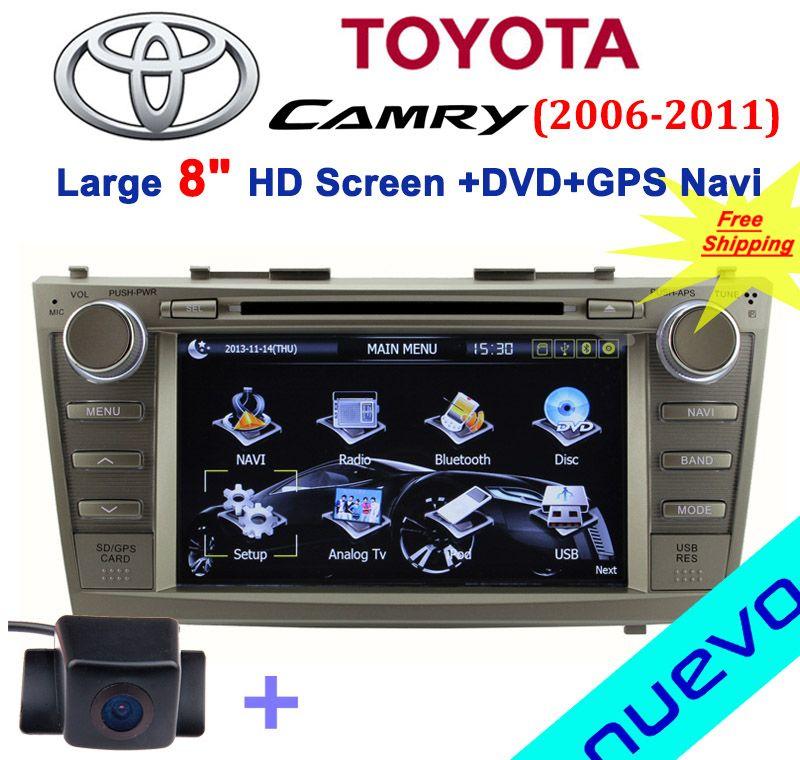 8 inch toyota camry car dvd with gps navigation bluetooth radio ipod usb atv. Black Bedroom Furniture Sets. Home Design Ideas