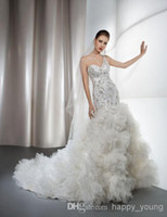 Wholesale - One Shoulder Mermaid Wedding Dress 2014 with Ruf...