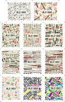 Decal 2D Plastic Brand New BLE Postage Stamps Map Designs Stickers Vintage Design Water Nail Decal Nail Art Decorations Wholesales