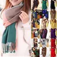 Wholesale Womens Winter Warm Checkered Tartan Plaid Pashmina Scarf Stole Shawl Neck Wrap fx207