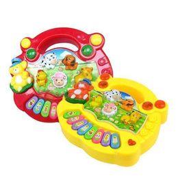 Wholesale S5Q Popular Baby Kid Animal Farm Piano Music Toy Developmental Hot AAACLR