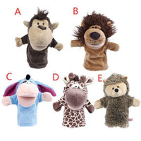 Wholesale S5Q Hand Glove Puppets Kids Child Plush Velour Toys Animals Preschool Story Learn AAACLS