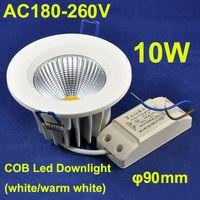 Wholesale Die casting Aluminium lighting AC180 V Cut Hole mm Led COB Downlight W Led Recessed Lamp