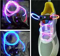 Wholesale YP pair color Light LED flashing flash shining shoelace shoelaces shoes lace laces