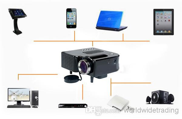 New small mini projector hdmi vga usb av sd card pc laptop for Best projector for apple products