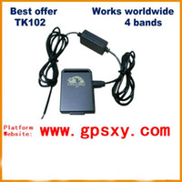 Cheap 5pcs Factory supply GPS Tracker TK102 mini gps tracker with 1 PC Battery Car Charger TK102B simple packing car gps tracker Free shipping