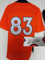 Football Men Short Orange #83 Welker Jerseys Discount American Football Signature Sports Jerseys Sportswears Hot Sale Breathable Men Jerseys Mix Order