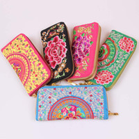 Wholesale Yunnan ethnic style embroidery embroidered purses Women s Wallets Wallet China Wind gift bags