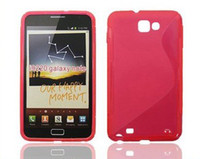Wholesale S line style TPU case for samsung galaxy note i9220 N7000
