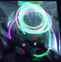 Wholesale YP pair color Light LED flashing flash shining shoelace shoelaces shoes lace laces Free with battery