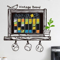 Wholesale Wall stickers romantic wall stickers living room tv wall wallpaper paste room decoration blackboard stickers