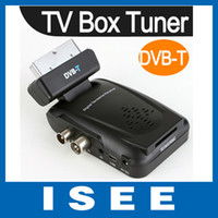 HD Digital Yes No Digital Scart TV Box Tuner DVB-T Mini Freeview Remote Receiver Video HD TV Box Free shipping China post