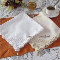 Wholesale Totel Restaurant Home Crochet Cotton Napkins Cleaning Cup Cloth Handkerchief pc