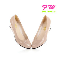 Wholesale high heel shoes thin heels fashion dress patent pu leather lady pumps dress women sexy size