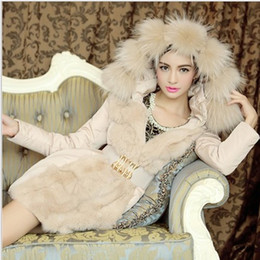 Wholesale 2014 Luxury Style Women Winter Long Down Parkas Thick Ladies elegant fur collar Outerwear Coat Feather cotton fur collar coat