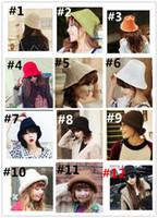 Wholesale Knit hat female Korean basin cap winter Women and Girl Stingy Brim Hats