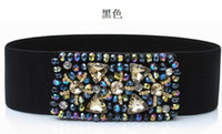 Belts Wide Standard luxurious crystal Wide belt Elastic waist sealing used for dress and overcoat