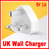 Wholesale 100pcs True enough A UK USB Wall Pin Power Plug Charger Adapter For all IPhone s ipod samsung all mobile phone