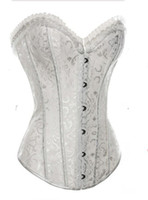 Wholesale Sexy Waist Traning Underbust Corset Women Sexy Steel Boned Bustier Crop Top Sexy Female Gothic Clothing Lingerie Plus Size Hot Shapers Body