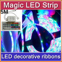 Wholesale 50pcs DHL m waterproof LED Strip RGB IP65 led stripe Light V LEDs M indoor lighting tiras led for christmas decoration JA02