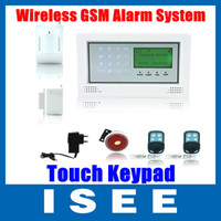Wholesale Wireless Wired Defense Zone GSM Home Security Alarm System LCD Touch Keypad