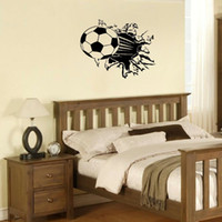 Wholesale Meijia New Wall Stickers Football Size Height MM MM Width Wall Decor Removable Art Wall Decals PVC Vinyl Stickers MJZ