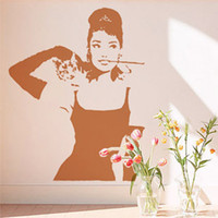 other audrey hepburn vinyl - Meijia Audrey Hepburn Wall Sticker Size Height MM MM Width Wall Decor Removable Art Wall Decals PVC Vinyl Stickers MJA