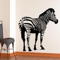 Wholesale Meijia New Wall Sticker Fashion Zebra Size Height MM MM Width Wall Decor Removable Wall Decals PVC Vinyl Stickers MJB