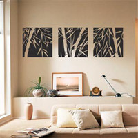 Wholesale Meijia Three Bamboo Wall Stickers Size Height MM MM Width Wall Decor Removable Art Wall Decals PVC Vinyl Stickers MJZ
